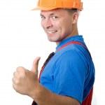 pozitivní tvůrce pracovník — Stock fotografie