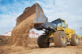 Wheel loader at eathmoving works — Stock Photo