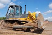 Bulldozer earthmover in action — Stock Photo