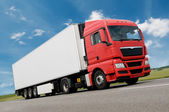 Freight truck on road — Stock Photo
