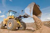 Wheel loader excavation working — Stock Photo