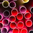 Stock Photo: Closeup of drinking straws in color