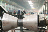 Pipe welding and rolling mill — Stock Photo