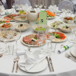 Wedding white reception place ready for guests. — Stock Photo #3166266