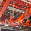 Royalty-Free Stock Photo: Large-tonnage industrial orange crane