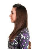 プロファイルの美しい若い女性の肖像画 — ストック写真