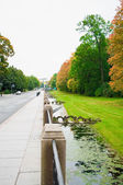 Ekaterina's park in autumn in a city Pushkin — Stockfoto