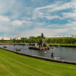 The Palaces, Fountains, and Gardens of  Peterhof - Stock Photo