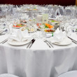 Stock Photo: Wedding white reception place ready for guests.