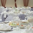 Wedding white reception place ready for guests. — Stock Photo #3304625