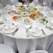 Wedding white reception place ready for guests. — Stock Photo #3304626