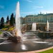 The Palaces, Fountains, and Gardens of  Peterhof Grand Palace in Saint-Pete - Stock Photo