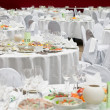 Formal dinner service as at a wedding, banquet — Stock Photo #3347660