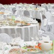 Stock Photo: Formal dinner service as at a wedding, banquet