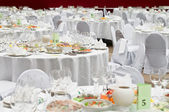 Formal dinner service as at a wedding, banquet — Stock Photo