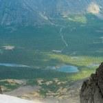 am grünen Tal von Peak anzeigen — Stockfoto