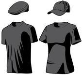 Košile a čepice. vektorové ilustrace — Stock vektor