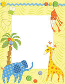 Baby frame or card — Stock Vector