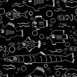 Royalty-Free Stock ベクターイメージ: Fish seamless pattern