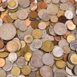 Scattering coins background — Stock Photo