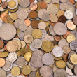 Stock Photo: Scattering coins background