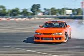 Drift car in action — Stock Photo