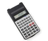 Scientific calculator isolated on white background — Photo