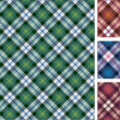 Set of scottish styled pattern — Stock Vector