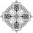 Stock Vector: Vector celtic cross traditional ornament