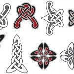 Set of celtic design elements — Stock Vector #3853389