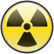 Stock Vector: Radiation vector round hazardous sign