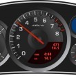 Vector realistic sport car's dashboard — Image vectorielle