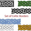 Vector set of Celtic style borders - Stok Vektör