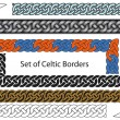 Stock Vector: Vector set of Celtic style borders