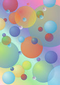 Pastel color bubbles vector background — Stock Vector