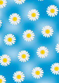 Daisy on blue vector background — Stock Vector