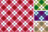 苏格兰风格模式的设置 — 图库矢量图片