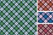 Sada skotské stylizovaný vzorku — Stock vektor