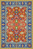 Persian detailed vector carpet — Stockvektor