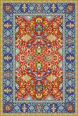 Persische detaillierte vektor-teppich — Stockvektor