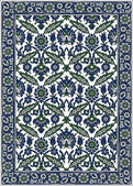 Persian detailed vector carpet — Stock Vector