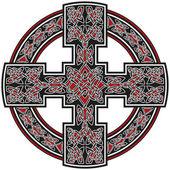 Vector celtic cross traditional ornament — Stock Vector