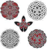 Set of celtic design elements — Stock Vector