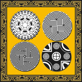 Set of ancient american indian patterns — Stock Vector