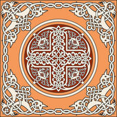 Ancient old russian vector pattern — Stock Vector