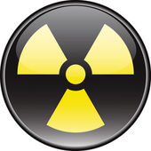 Radiation vector round hazardous sign — Stockvector