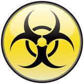 Biohazard vector round hazardous sign — Stock Vector