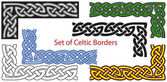 Vector set of Celtic style borders — Stok Vektör