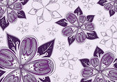 Beautiful background with purple flowers — Stock Vector
