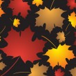 Stock Vector: Fall leaves background